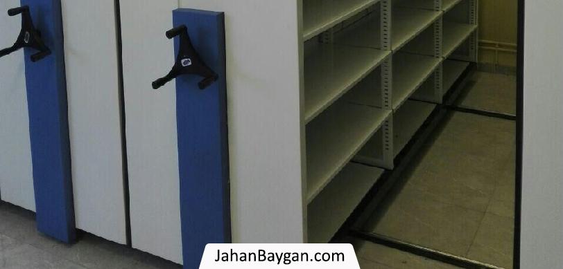 قفسه کتابخانه ای ریلی